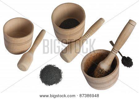 Wooden Mortar In Several Variants