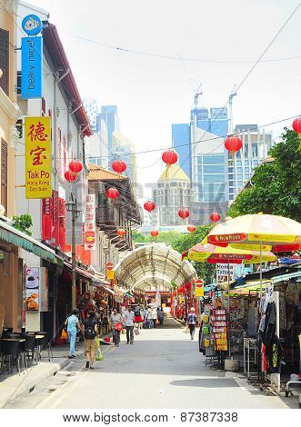 Singapore Chinatown Shopping Street