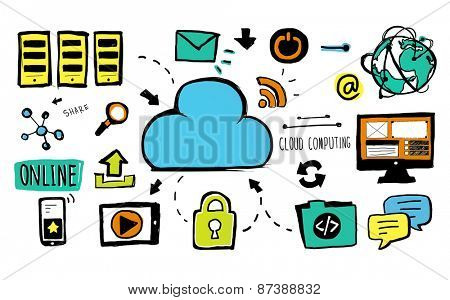 Cloud Computing Data Storage Communication Security Concept