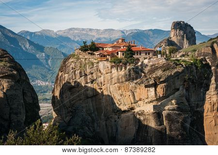 Monastery Of Holy Trinity  In Meteora, Greece