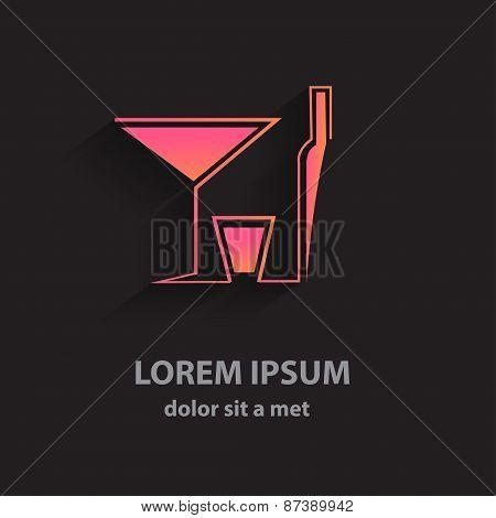 Creative Vector Logo Bar. Modern Design For Business