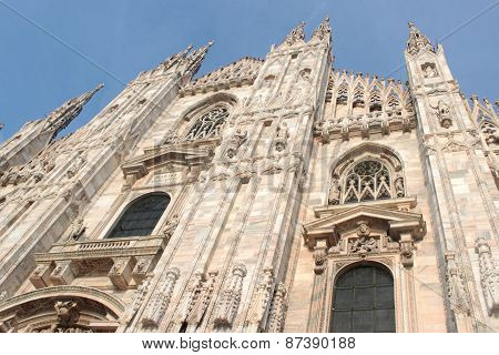 reconstruction of a cathedral of Duomo