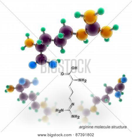 Arginine Molecule Structure