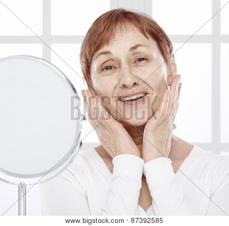 Sixty years woman and skin care