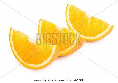 Few Orange Slices In Row