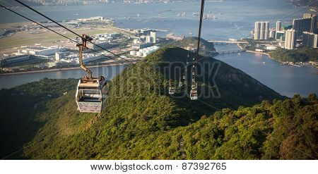 Cable Car Way To Mountains