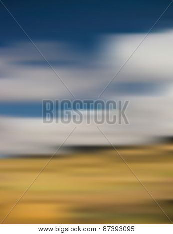 Blue Sky And Field Background