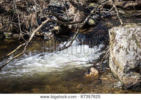 Pistyll Rhaeadr  small stream