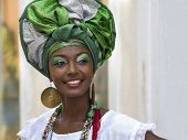 foto of traditional attire  - Brazilian woman of African descent - JPG