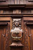 image of door-handle  - door handle on the door of an old building - JPG