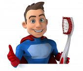 picture of animated cartoon  - Fun superhero - JPG