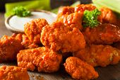 picture of chicken  - Hot and Spicy Boneless Buffalo Chicken Wings with Ranch - JPG