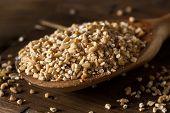 image of oats  - Raw Organic Steel Cut Oats in a Bowl - JPG