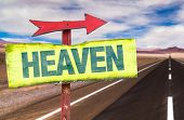 picture of gates heaven  - Heaven sign with road background - JPG
