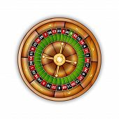 picture of roulette table  - Casino roulette isolated on white - JPG