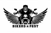 Постер, плакат: Biker logo