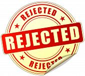stock photo of rejection  - illustration of rejected label design red icon - JPG