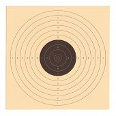 stock photo of shoot out  - Isolated picture of a official shooting target in cardboard - JPG