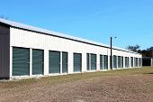 stock photo of self-storage  - Storage units in a retail lease facility - JPG