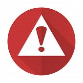 pic of warning-signs  - exclamation sign red flat icon warning sign alert symbol  - JPG