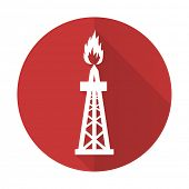 image of shale  - gas red flat icon oil sign  - JPG
