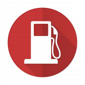 picture of petrol  - petrol red flat icon gas station sign  - JPG