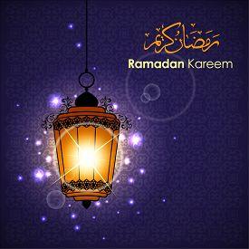 image of ramadan mubarak card  - Ramadan greetings in Arabic script - JPG