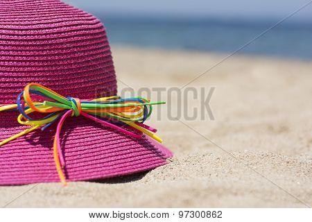 Summer Hat On A Beach
