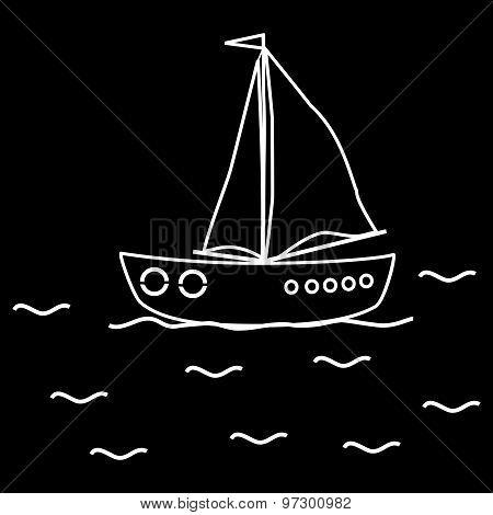 Yacht sailboat ship