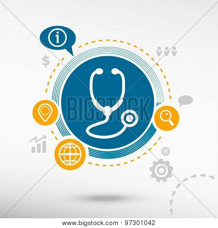 Stethoscope  Icon And Creative Design Elements
