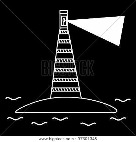 old lighthouse sea navigation