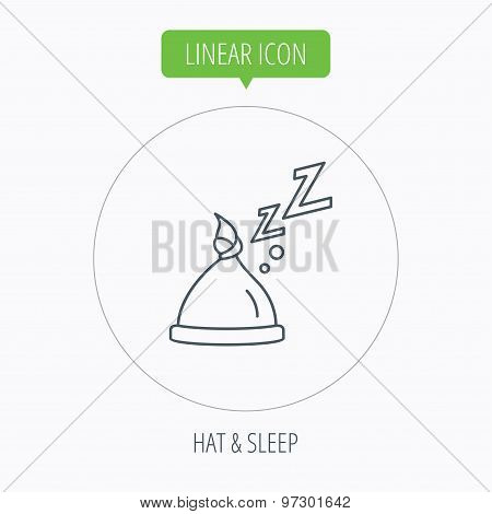 Baby hat with nodule icon. Newborn cap sign.
