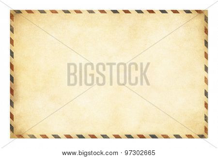 Old postcard template with clipping path included