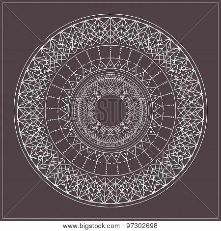 Geometric Hipster Circle 654716
