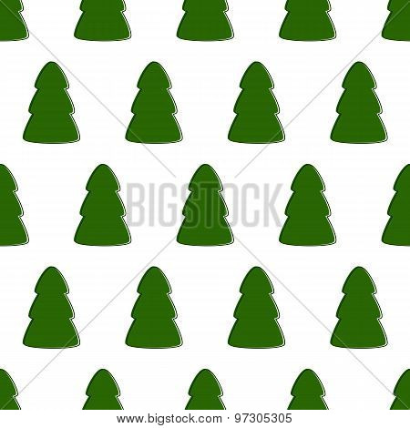 Pattern With Fir-trees