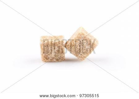 Brown Sugar Cubes Isolated