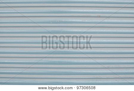 Blue Corrugated Painted Metal Background Texture