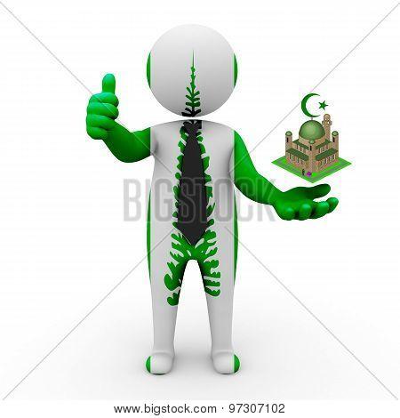 3d businessman people Norfolk (Island)- Muslim mosque and Islam in Norfolk (Island)