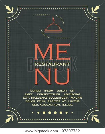 Restaurant menu cover background in vintage style