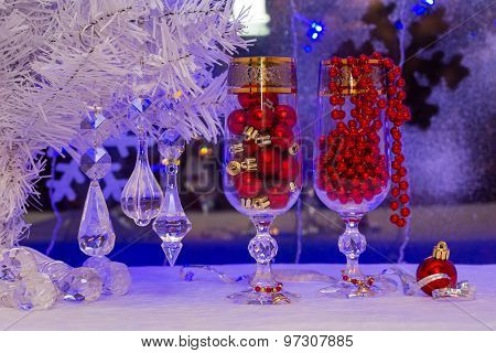 Christmas Tree And Decorations. Wallpaper.