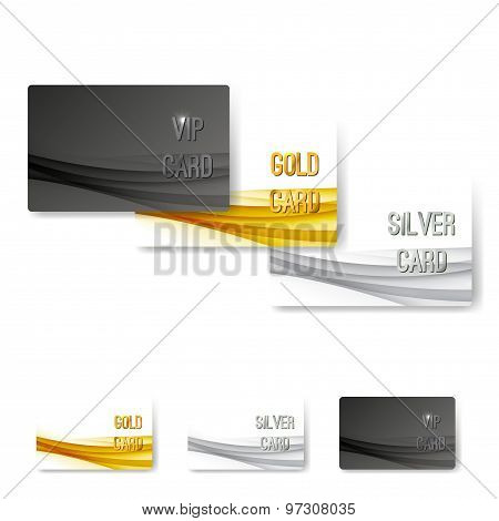 Vip Status Membership Card Template Set