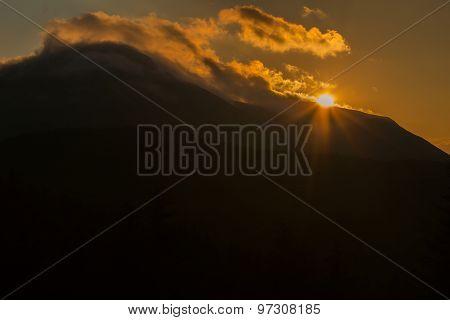 Beautiful sunsets on the mountain Petros, Ukrainian Carpathians