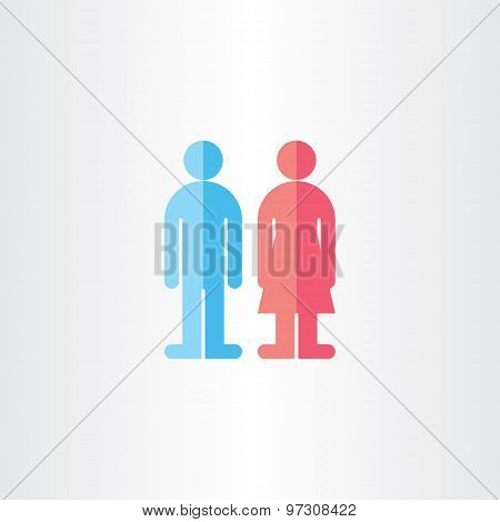 Man And Woman Toilet Vector Symbols