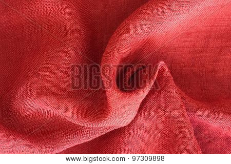 Close Up Of Linen Texture And Design- Textile Background