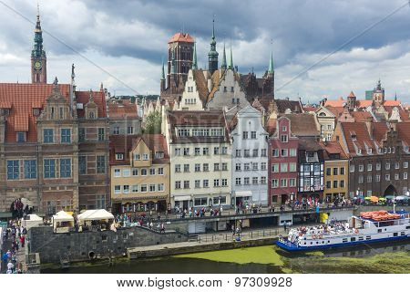The Old Town In Gdansk, Poland