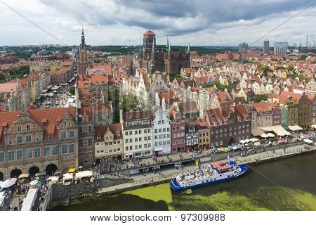 Aerial View Of Gdansk City, Poland