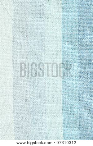 Striped Linen - Close Up Of Blue Linen Textile