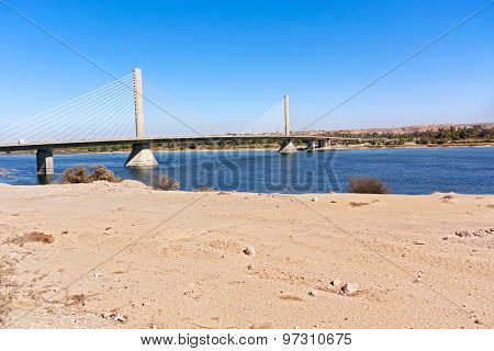 Aswan Bridge On Nile River