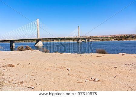 Aswan Bridge On Nile River