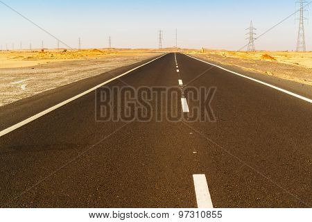 Road In The Eastern Desert Near Asvan